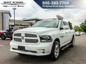 2016 Ram 1500 SPORT, 4X4, SUNROOF, BACKUP CAM, BLUETOOTH