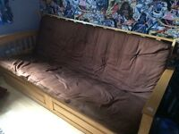 Solid wood sofa bed