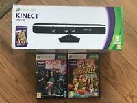 Xbox 360 Kinect with Dance Central & Kinect Adventures