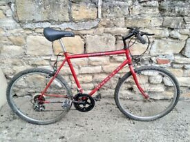 Bicycle for sale with 5 gears.In need of a clean but in working order.