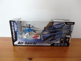 NEW! Toy Air-Spiral Helicopter by Silverlit (Black And Blue)