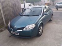 Nissan primera Year 2002 1.8 Gas bifuel Lpg 87K millage £449 or swap