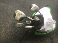 Callaway XJ junior golf clubs. Right handed.