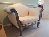 Shabby-chic comfy over-sized armchair