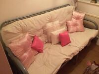 Sofa bed double , steel frame as new condition