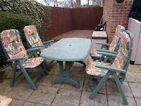 Garden Table & Chairs & Loungers