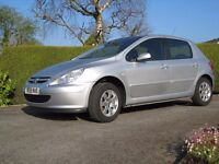 Peugeot 307 1.4 S 90 bhp model,2005,86000 Miles,Mot Sept 2017,V Tidy-Needs attention to gearbox