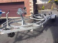 Tri axle boat trailer 3500kg