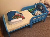 Thomas the Tank Engine Toddler Bed with Mattress and Bedding