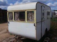 Rare Vintage 1950 Picture postcode Touring Caravan