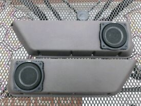 Austin Rover MG Metro Grey Door Bins Pockets Fitted with Vibe Slick S40 Speakers