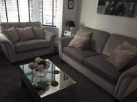 Crushed velvet bespoke sofa