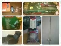 Vax Carpet Cleaner, Bosch Garden Vac, Bosch Chainsaw, Nike Watch, 3 door wardrobe