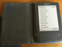 KINDLE BOOK READER WITH 2,500 BOOKS AND GENUINE COVER