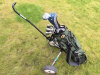 Ladies Golf Clubs Including Bag, Trolley, Irons and Woods RH Mainly Graphite Shafts