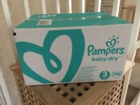 Pampers baby dry size 3 nappies 198