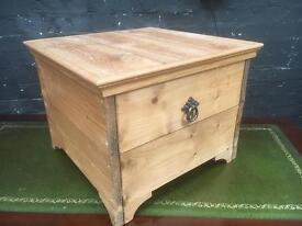 Beautiful pine storage box in pristine condition