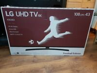 BRAND NEW BOXED LG 43-inch ULTRA UHD 4K HDR SUPER Smart LED TV-43UJ634V,built in Wifi,Freeview HD