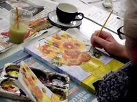 Workshop: Painting with Acrylics with artist Emma Morrissey at the d.@rt Centre