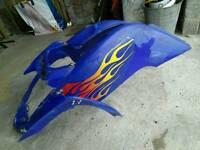 Yamaha Raptor 660 front plastics fairings mudguards fenders