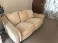 Three piece suite Sofa Armchair and Pouffe/footstool