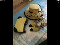 Jaque vert outfit with shoes hat and bag