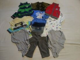 Baby clothes for 12 months. 14 items in good condition, barely worn.