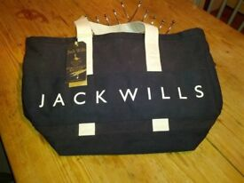 Ladies / girls canvas bag . Brand new JACK WILLS bag. Navy and white, immacualte, unwanted present