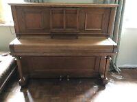 Upright Oak Piano