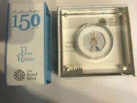 Beatrix Potter Peter Rabbit 2016 limited edition colour 50p
