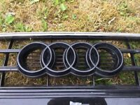 AUDI A5 2012-2015 GENUINE FRONT BUMPER GRILL with PDC holes.