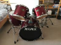 Mapex Venus Drum Kit - wine red - Remo drum heads - READY TO PLAY
