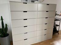 IKEA NORDLI chest of 12 drawers / white