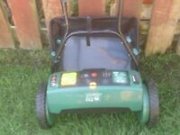 VICTOR CORDLESS MOWER WITH CHARGER AND GRASS BAG £55