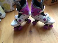 Roller skates osprey quad girls size 3-5