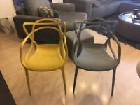 Masters Inspired Dining/Garden/bedroom chairs grey/mustard