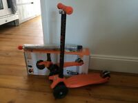 ORANGE MAXI MICRO SCOOTER WITH HANDLE BAR & JOYSTICK - SUPERB CONDITION - A FABULOUS SCOOTER