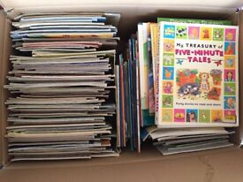Box of 100+ Children's Paperback Story Books. Various age ranges from 2-10 years approximately.