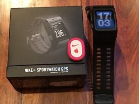 Nike+ SportWatch GPS powered by TomTom Black Anthracite with Nike foot sensor pod
