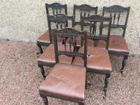 Six Vintage / antique chairs