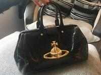 VIVIENNE WESTWOOD BROWN LEATHER GLADSTONE BAG