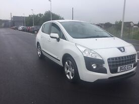 peugeot 3008 white 2010 full leather interior