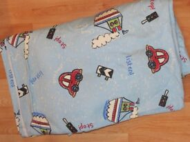 As New - Next Fully Lined Road Map Curtains 228cmx137cm. Never been Gathered.