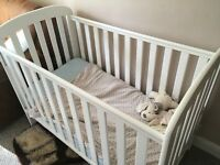 White Cot including mattress - FREE