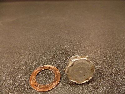 Drain-hardware (1972 1973 BULTACO PURSANG MK6 250 CLUTCH CASE CASES OIL DRAIN HARDWARE / BOLT)