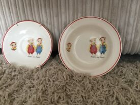 Pinky and Perky retro dish/saucer From 1960 s.