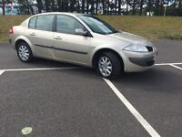 57 PLATE RENAULT MEGANE 1.6 PETROL .. LOW MIL 65K-- FULL YEAR MOT -- ONLY ONE PREVIOUS OWNER