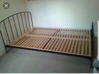 Habitat King size wrought iron bed