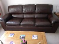 Two used leather sofas (can be sold separately)