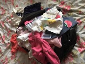 Bundle of girls clothes from 0-3 to 6-9 months